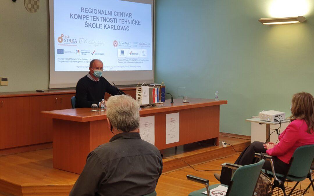 Održan prvi promotivni sastanak s inovatorima u sklopu projekata Regionalnog centra kompetentnosti Tehničke škole Karlovac